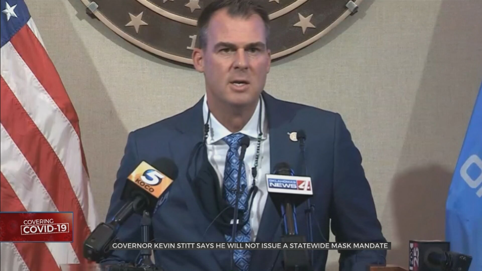 Gov Stitt Offers Updates About COVID-19, Treatments In Oklahoma