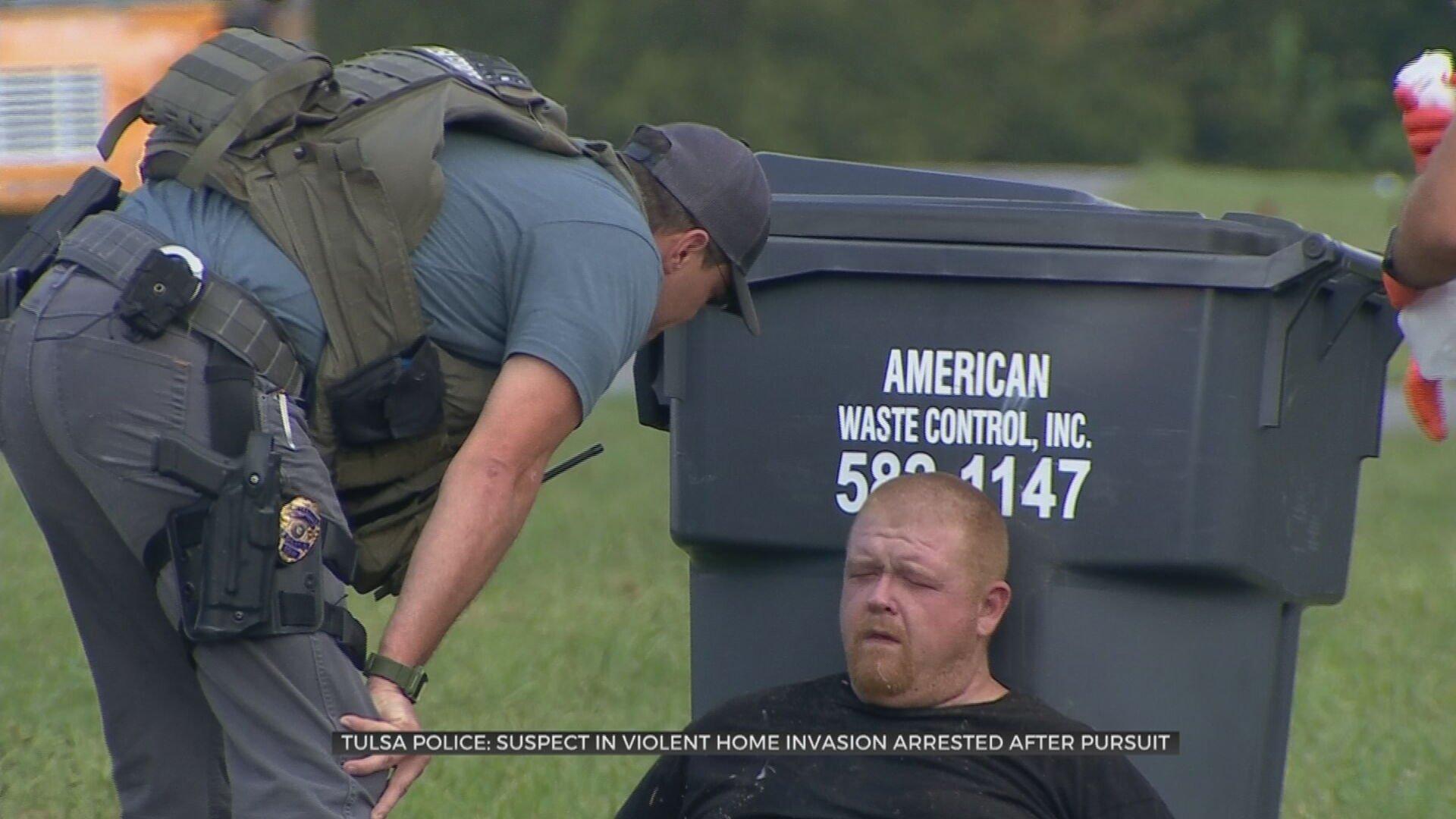 Tulsa Police: Suspect In Violent Home Invasion Arrested After Pursuit