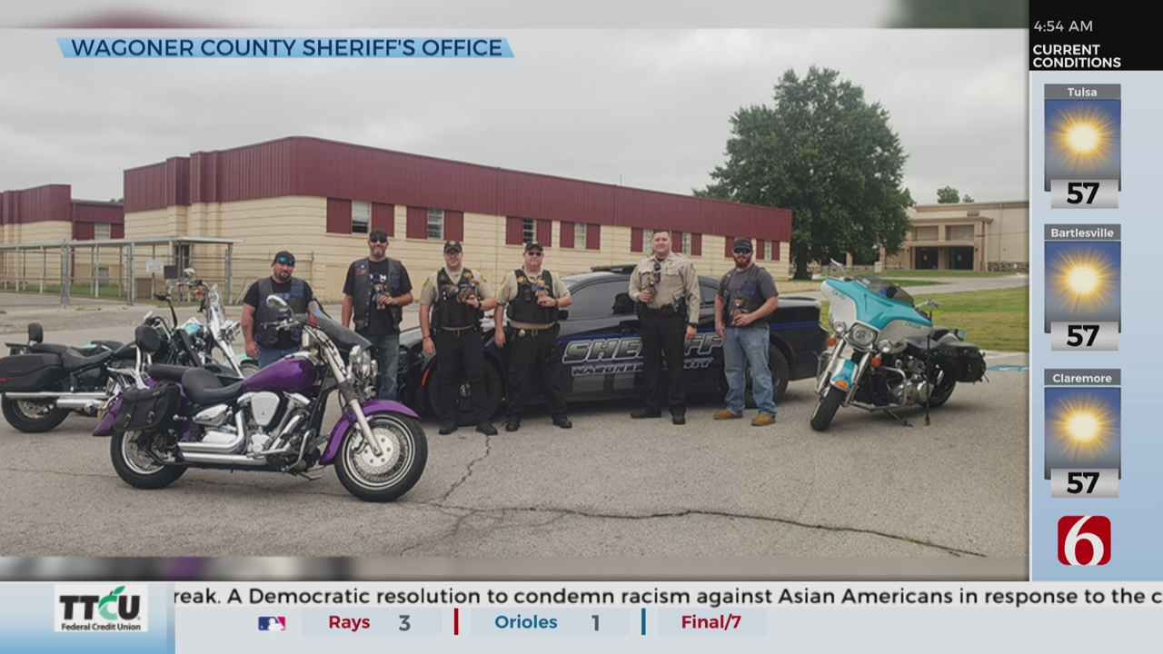Motorcycle Club Donates Stuffed Animals To Wagoner County Sheriff's Office