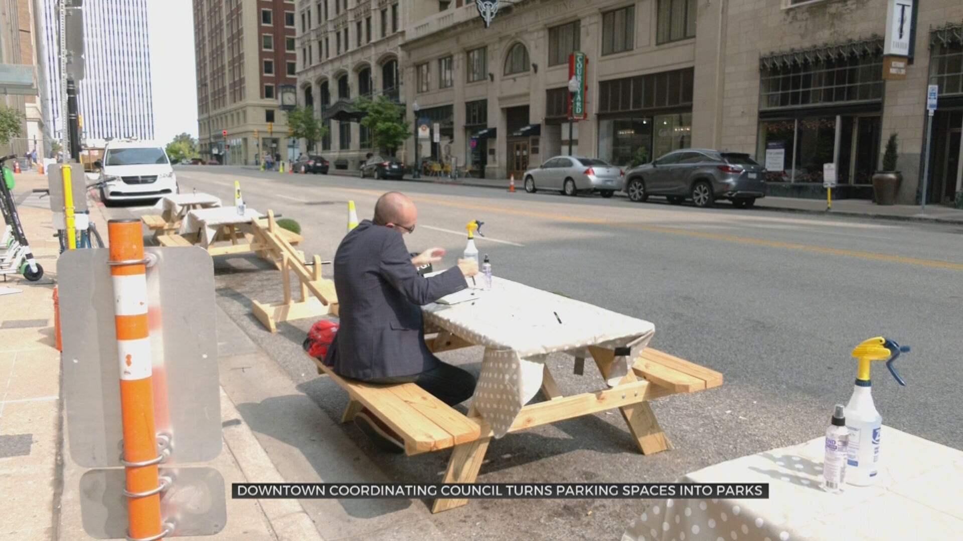 Downtown Coordinating Council Turns Parking Spots Into Parks