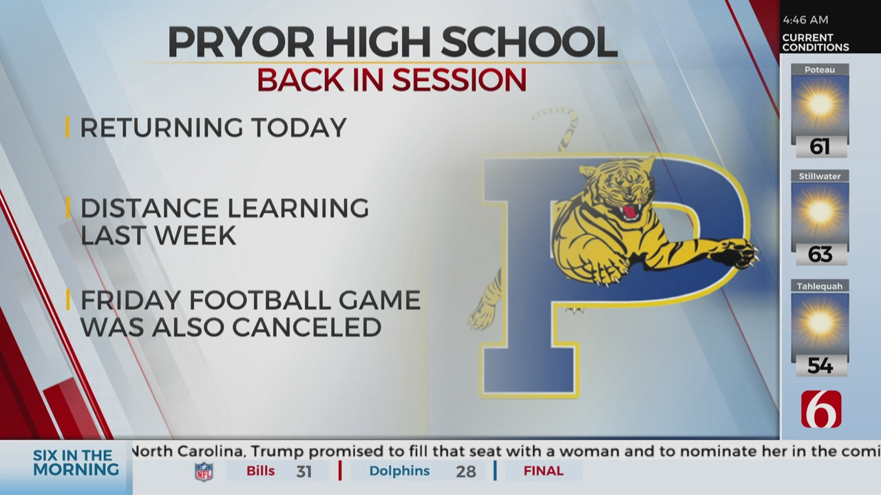 Pryor Public Schools To Return To In-Person Learning