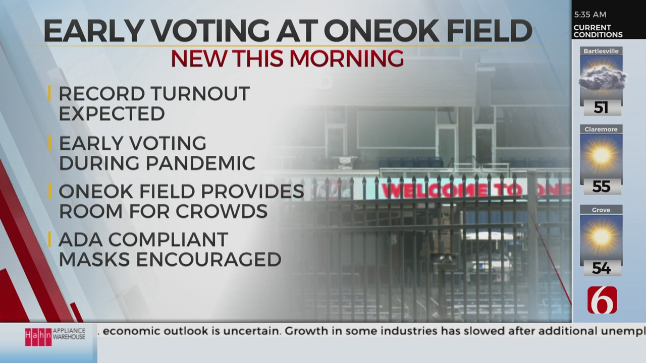 ONEOK Field Chosen For  New Early Voting Location