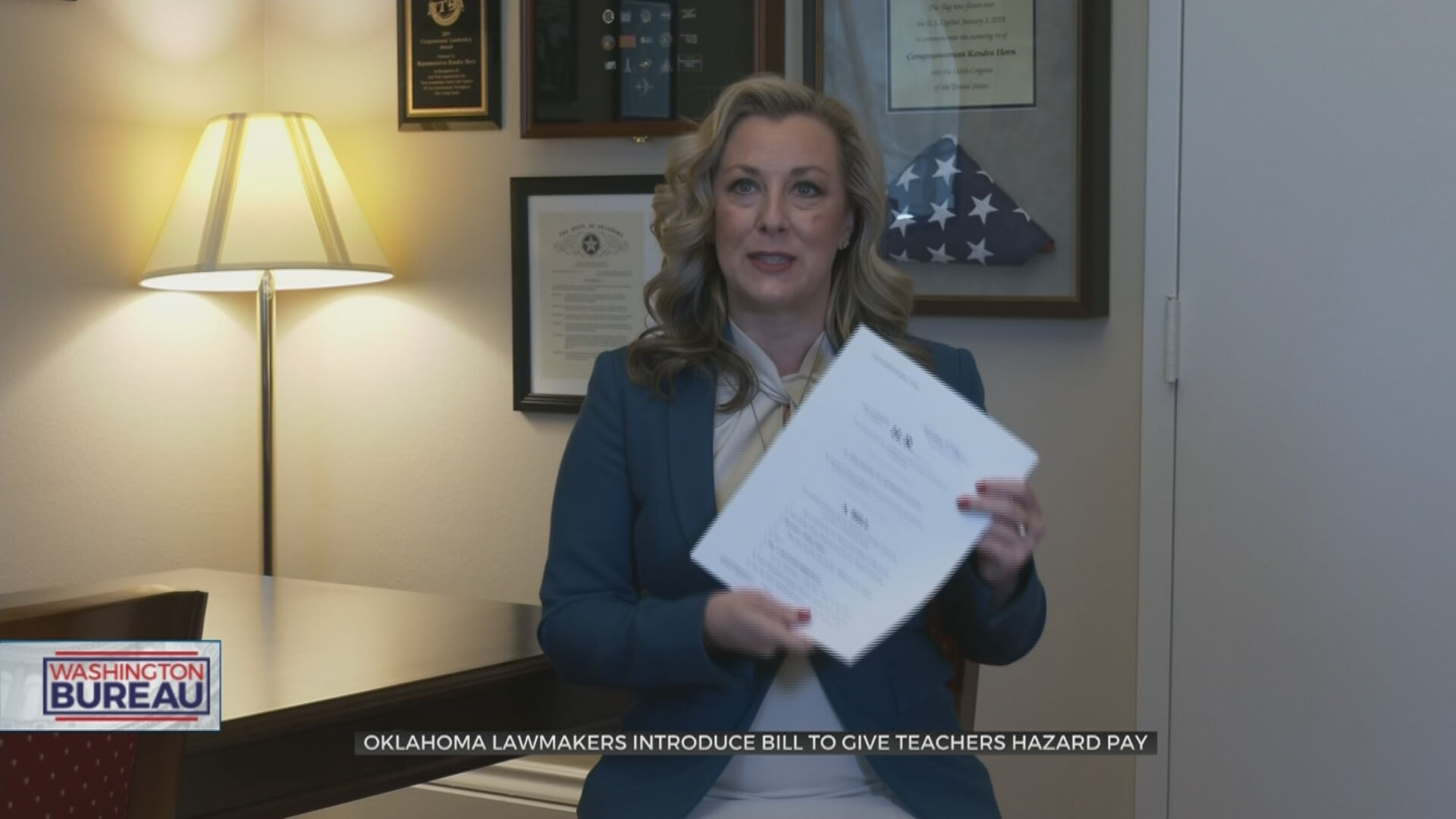 Oklahoma Lawmaker Introduces Congressional Bill To Give Teachers Hazard Pay