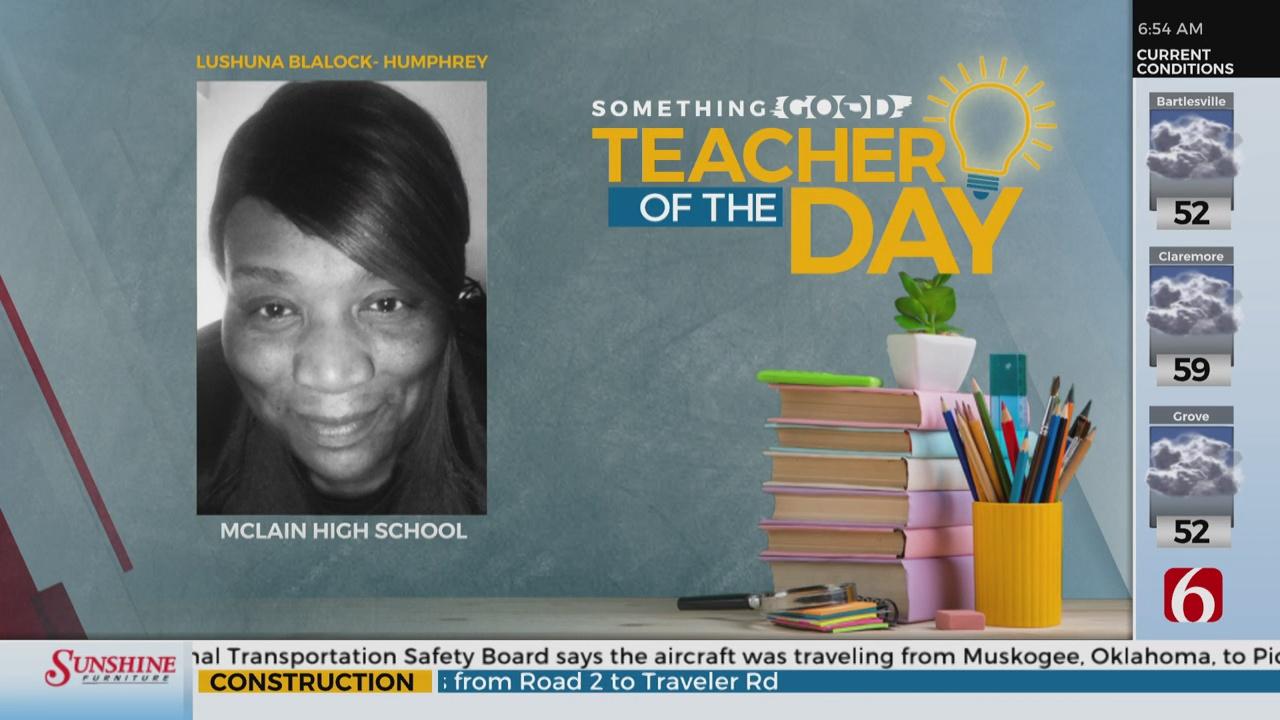 Teacher Of The Day: Lushuna Blalock- Humphrey