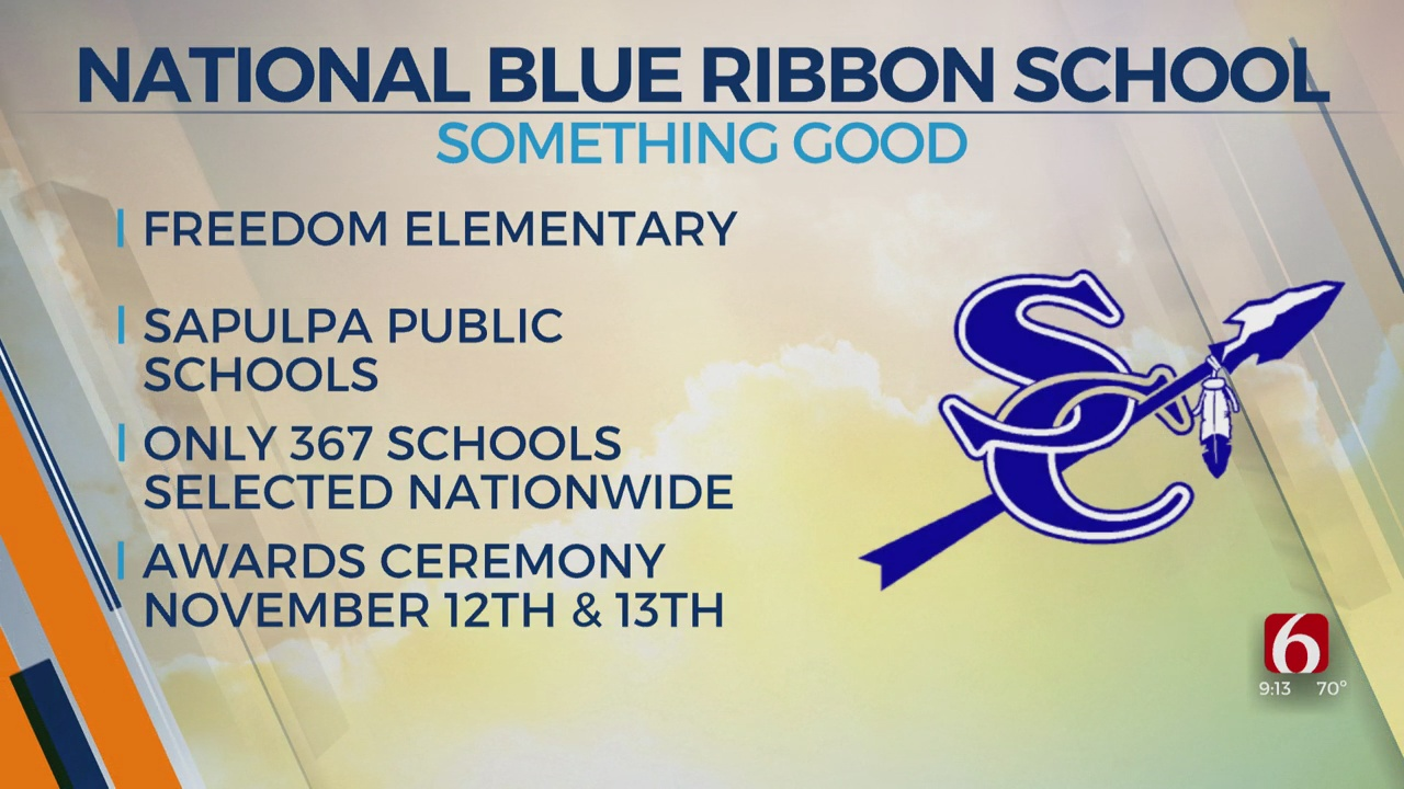 Sapulpa Elementary Named As National Blue Ribbon School
