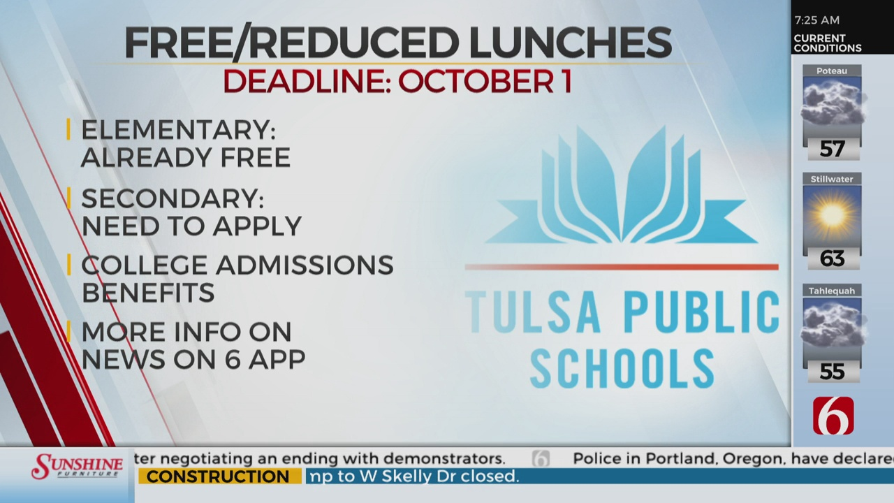 TPS Free And Reduced Lunch Deadline October 1st