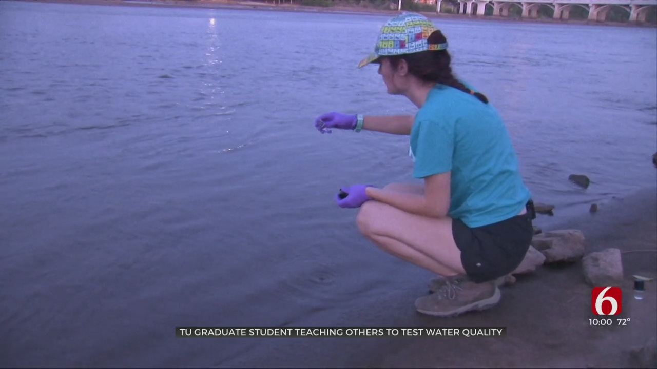 TU Graduate Student Teaching Others To Test Water Quality