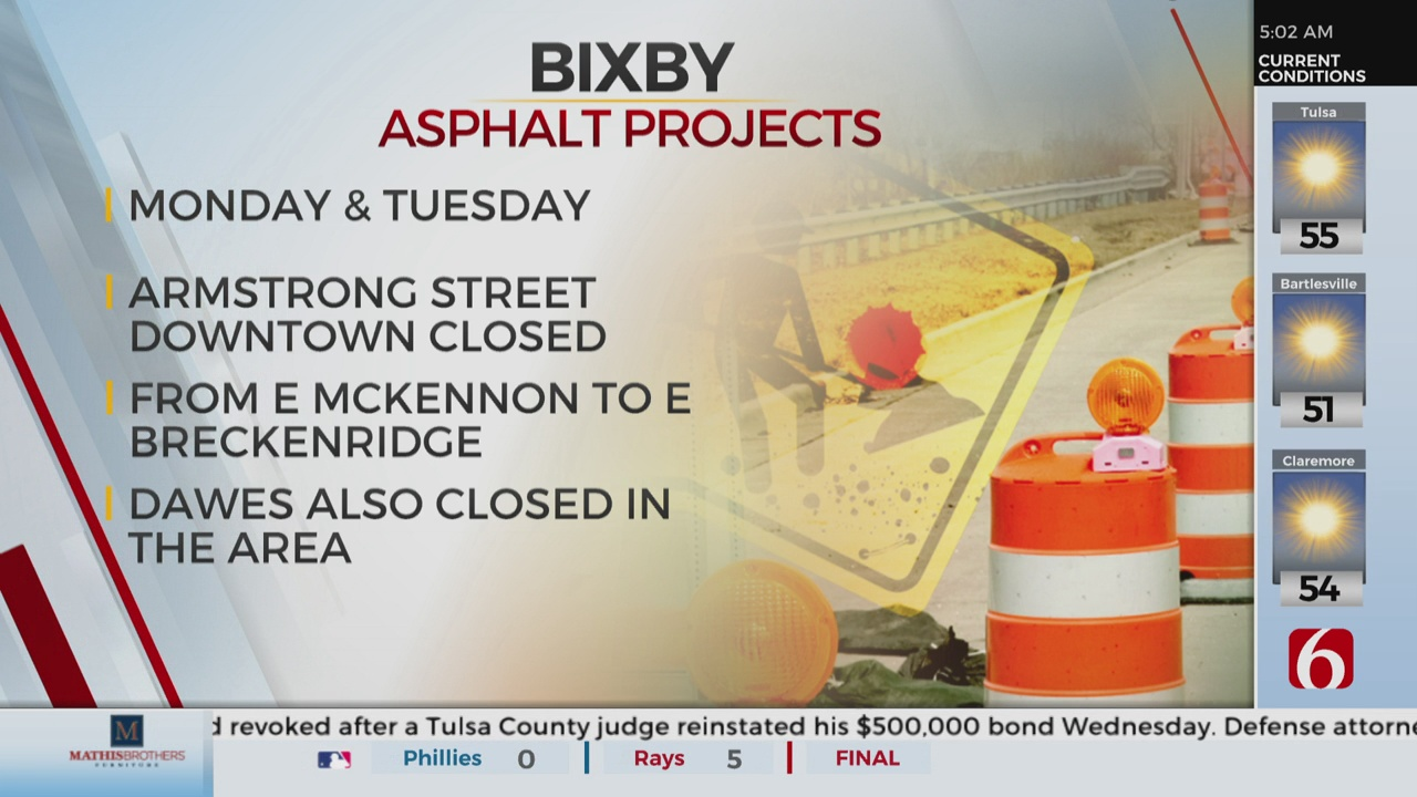 Road Closures In Downtown Bixby Monday And Tuesday