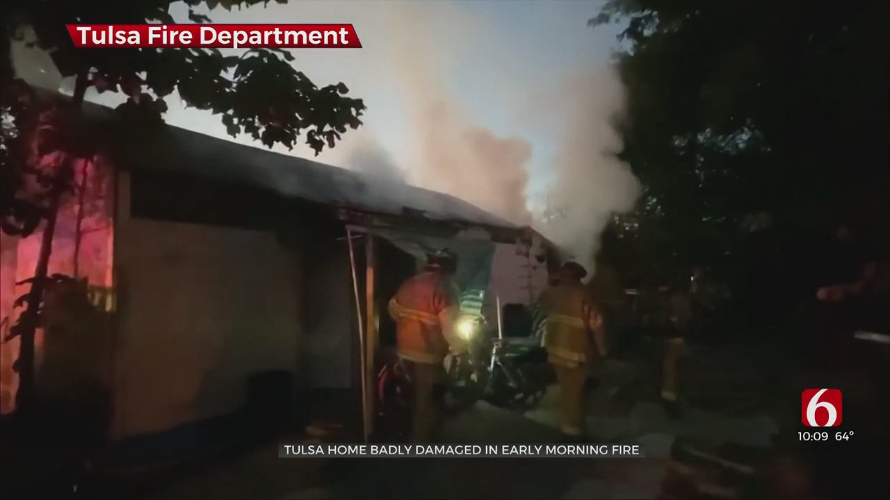 Tulsa Home Badly Damaged In Early Morning Fire