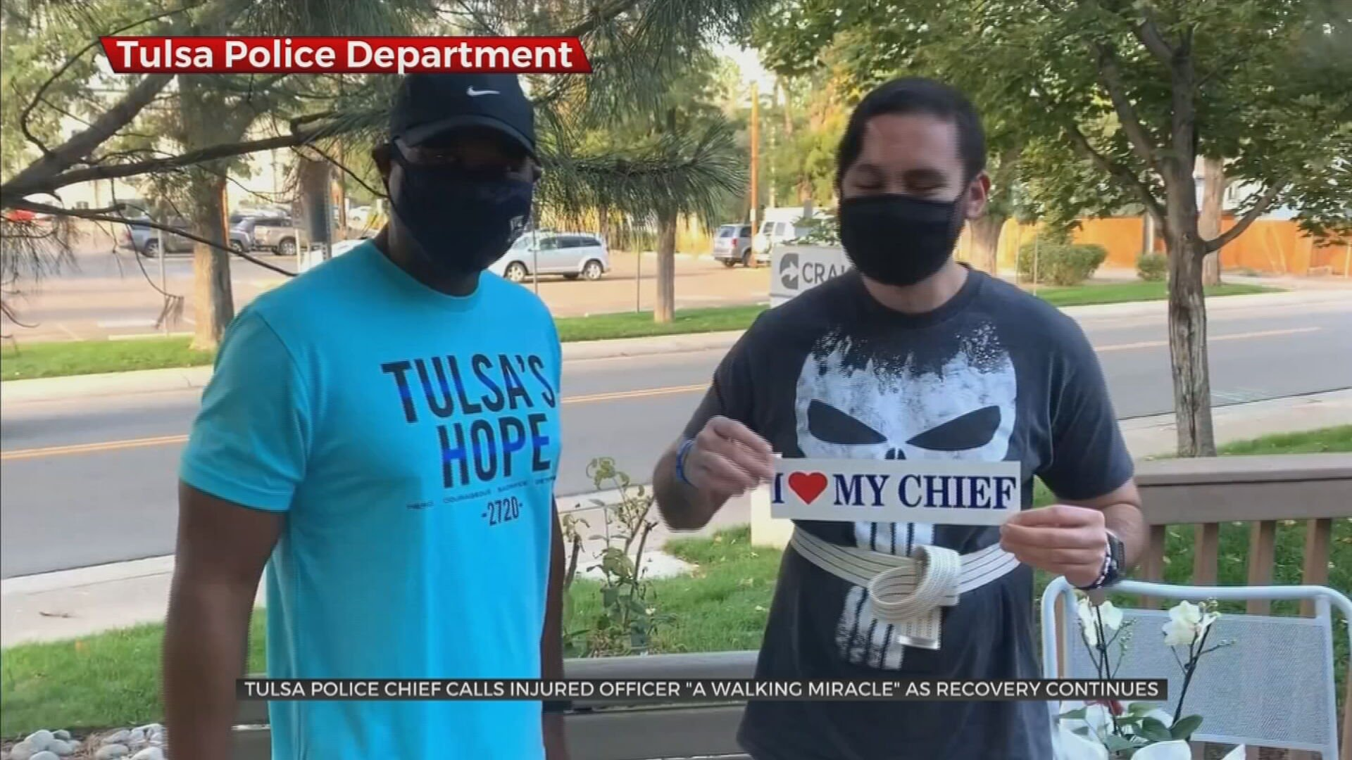 Tulsa Police Chief Calls Injured Officer 'A Walking Miracle'