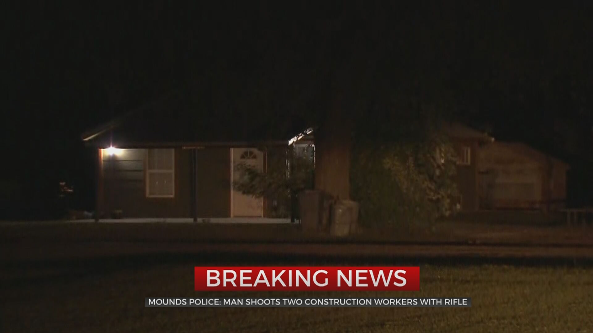 Man Arrested After Mounds Police Say He Shot Construction Crew With Rifle