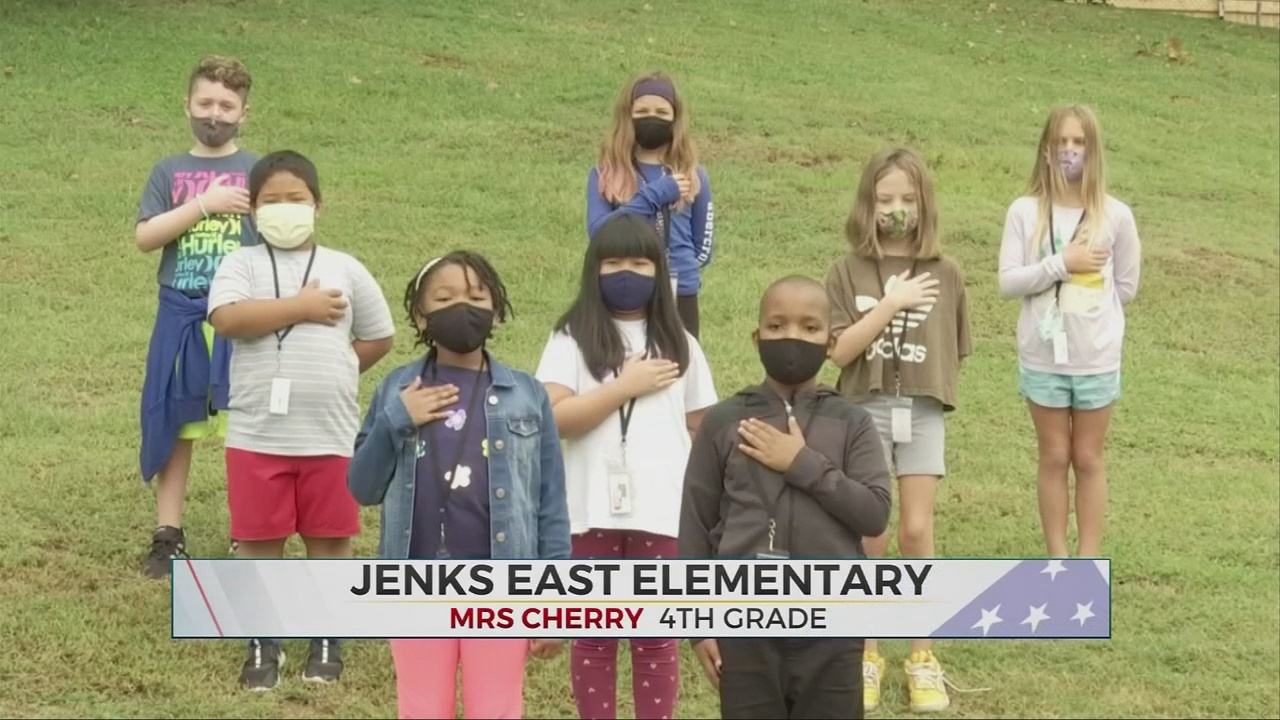 Daily Pledge: Mrs. Cherry's 4th Grade Class from Jenks East Elementary