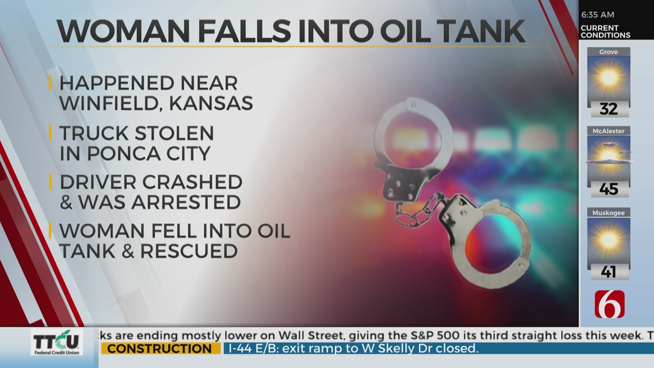 Oklahoma Chase Ends In Kansas; Woman Found In Oil Tank