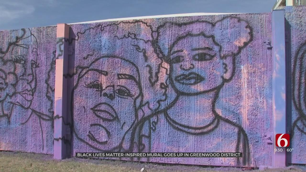 Black Lives Matter-Inspired Mural Goes Up In Greenwood District