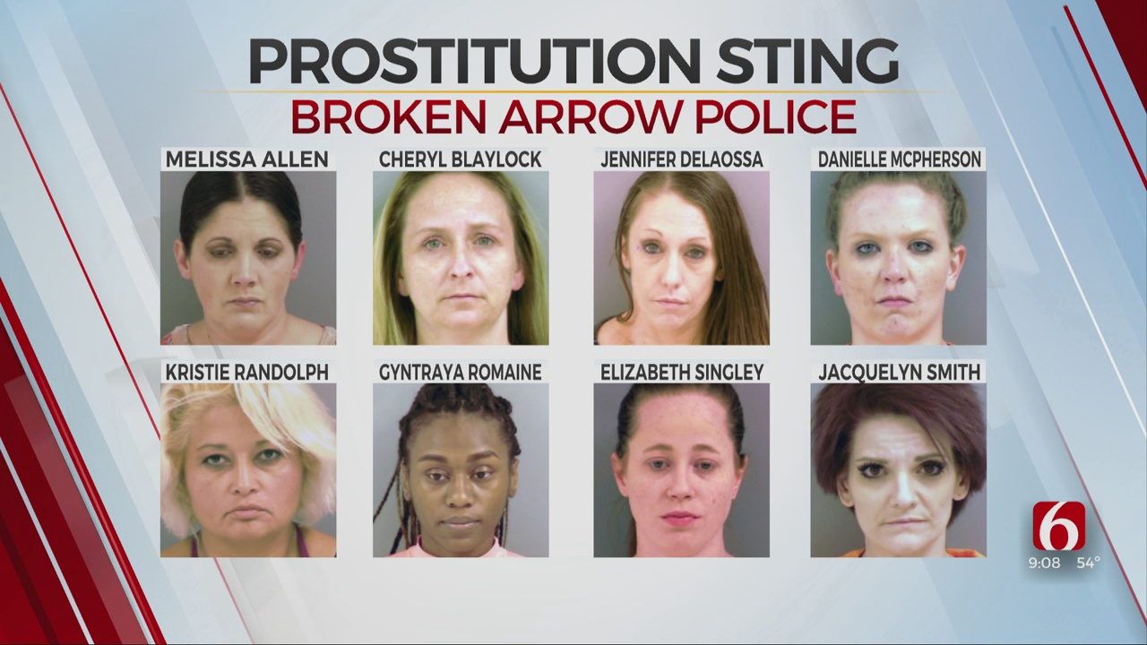 8 Women Arrested In Broken Arrow Prostitution Sting