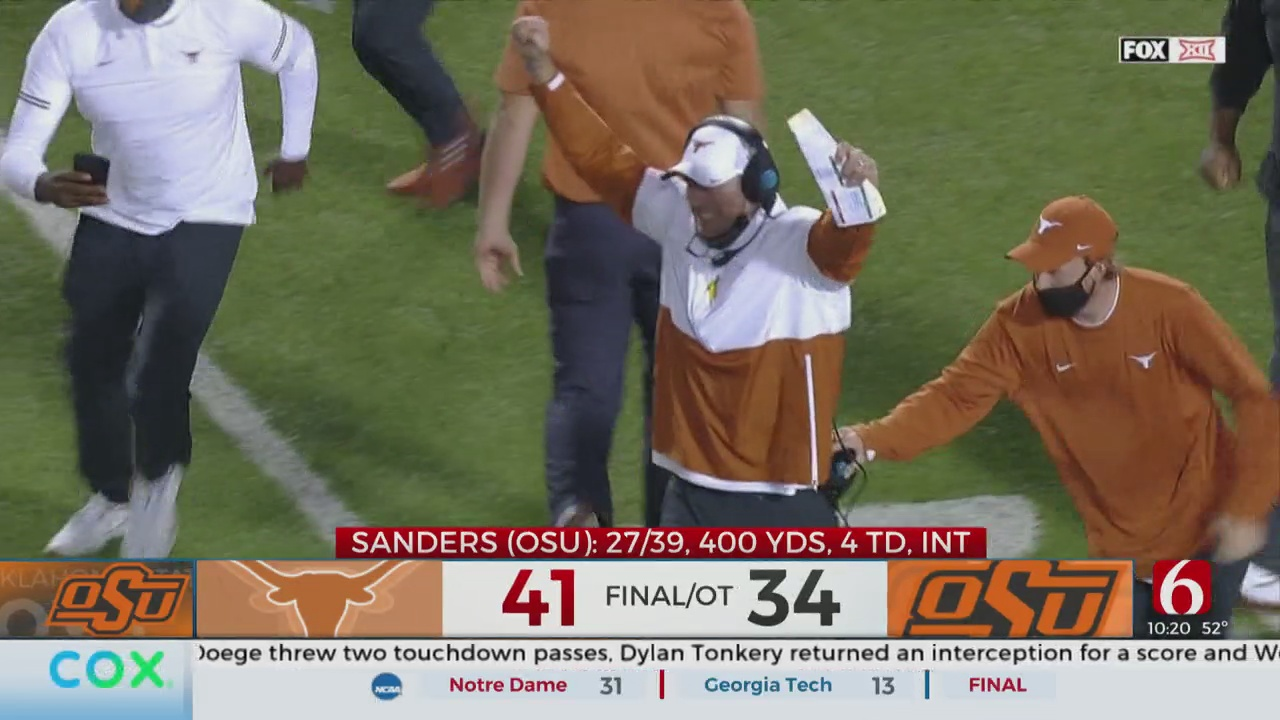Texas Upsets Oklahoma State In Overtime