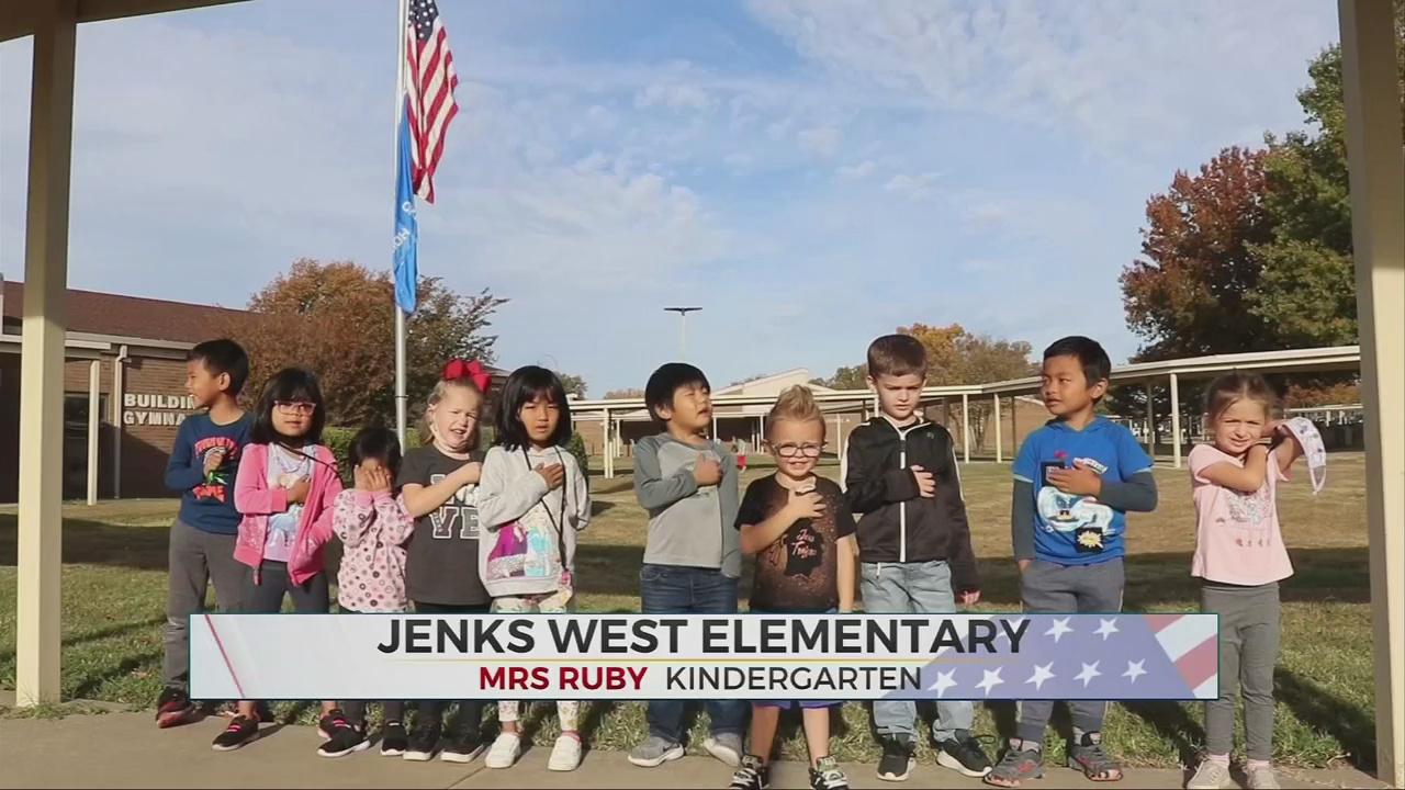 Daily Pledge: Mrs. Ruby's Kindergarten Class at Jenks West Elementary