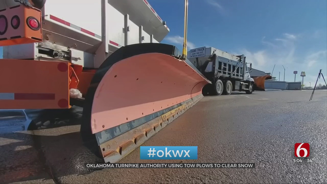 WOW: Oklahoma Turnpike Authority Deploys Largest Plows During Winter Storm