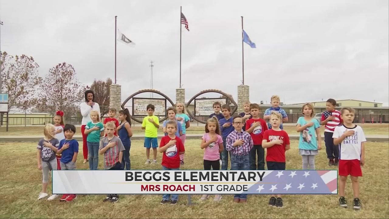 Daily Pledge: Mrs. Roach's 1st Grade Class