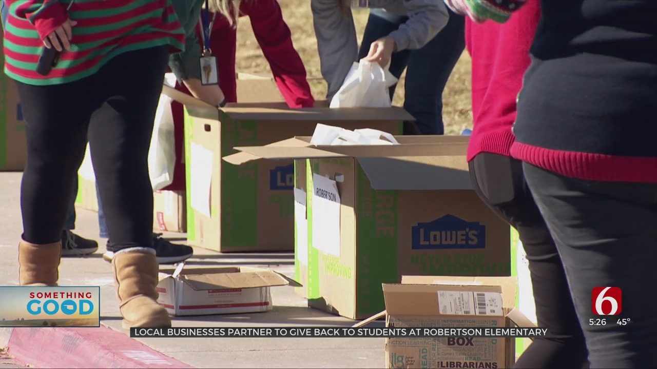 Local Businesses Partner To Give Back To Students At Robertson Elementary