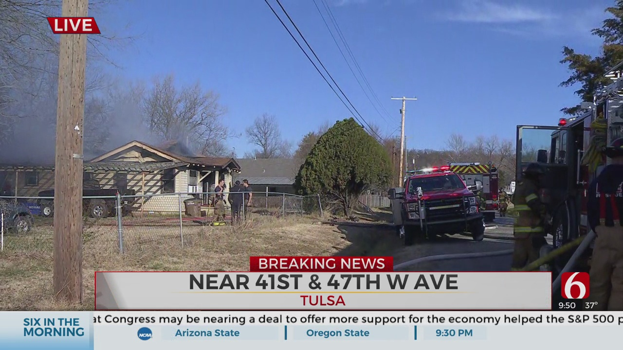 Multiple Crews Responds To Tulsa Area House Fire