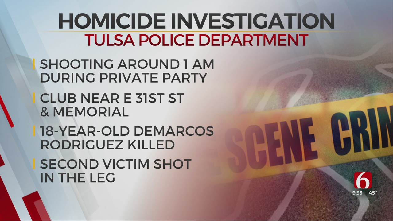 Tulsa Police Identify Man Killed After Shooting At Private Birthday Party