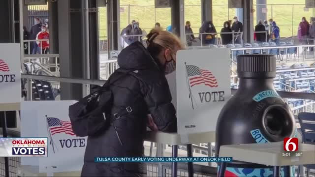 Tulsa County In-Person Early Voting Underway At OneOK Field