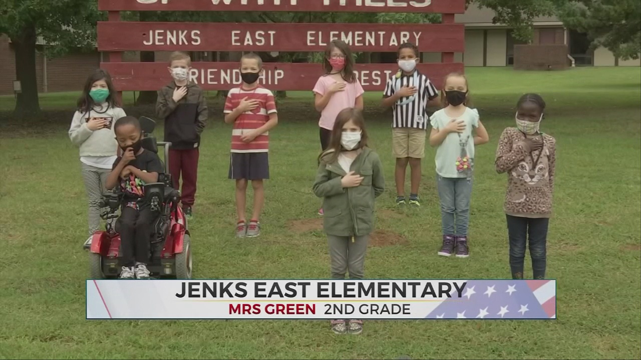 Daily Pledge: Mrs. Green's 2nd Grade Class From Jenks East Elementary