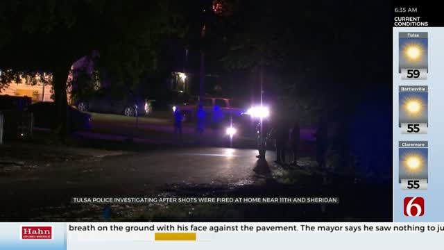 Tulsa Police Search For Person Who Shot At Home