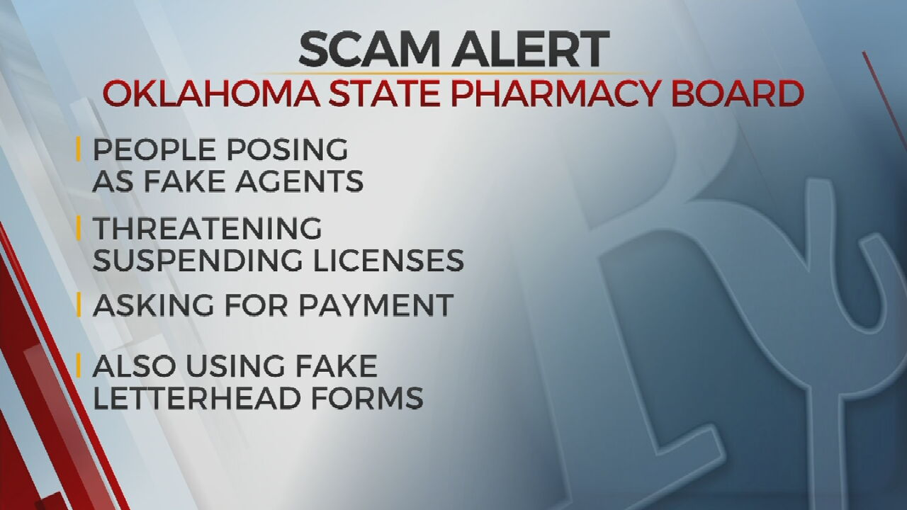 Oklahoma State Pharmacy Board Warns Of Scammers Posing As Board Agents