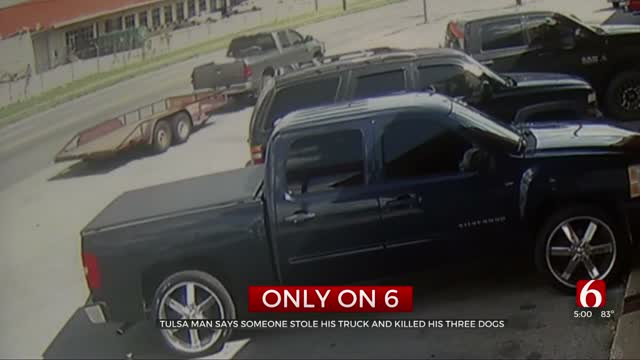 Tulsa Man Heartbroken After He Said Someone Stole His Truck, Killed His 3 Dogs