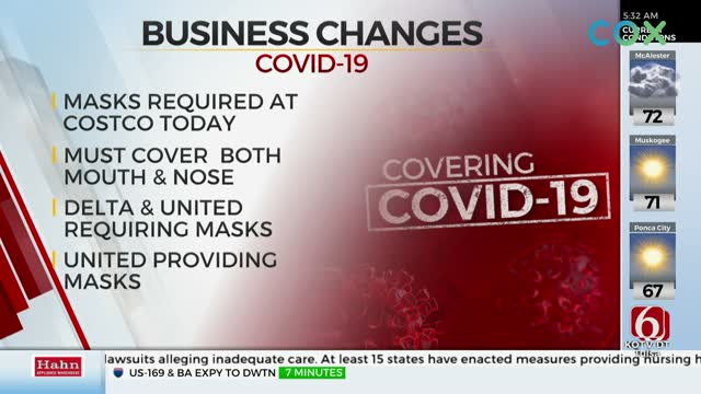 Businesses Make Changes Due To Coronavirus (COVID-19), Some Require Face Coverings
