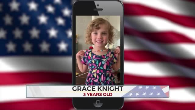 Daily Pledge: 3-Year-Old Grace Knight