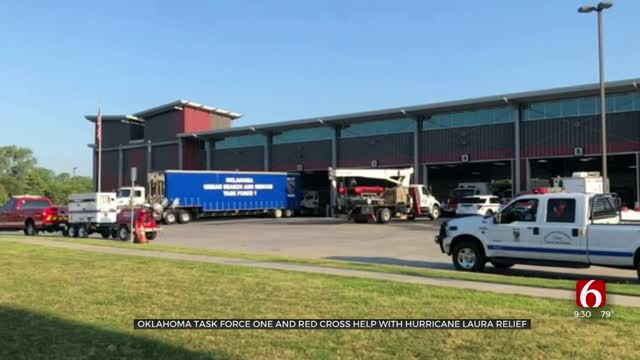 Oklahoma Task Force One, Red Cross Help With Hurricane Laura Relief