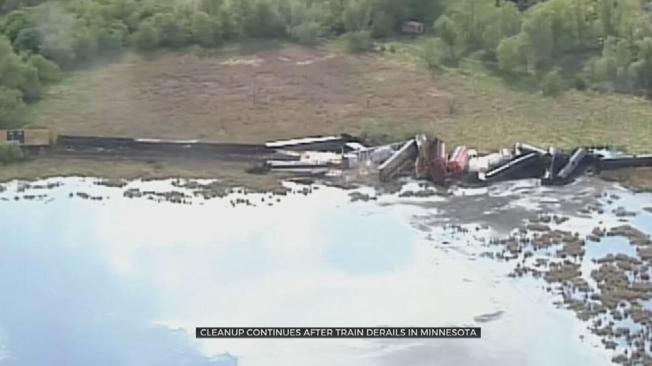 More Than 20 Cars Leave Tracks In Minnesota Train Derailment