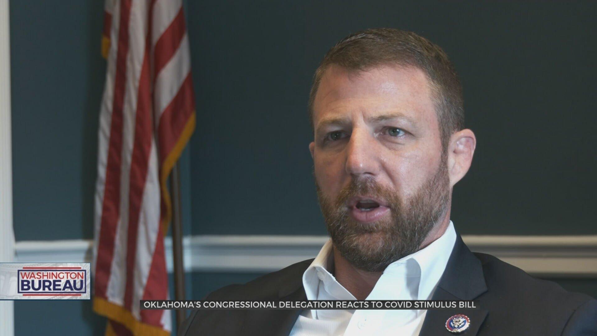 Stimulus Bill Support Split Along Party Lines, Okla. Congressmen Say It Goes Too Far