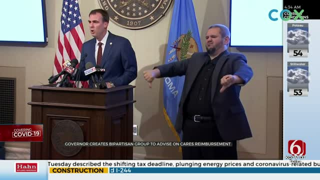 Governor Stitt Announces Bipartisan Group To Advise, Distribute CARES Act Funds