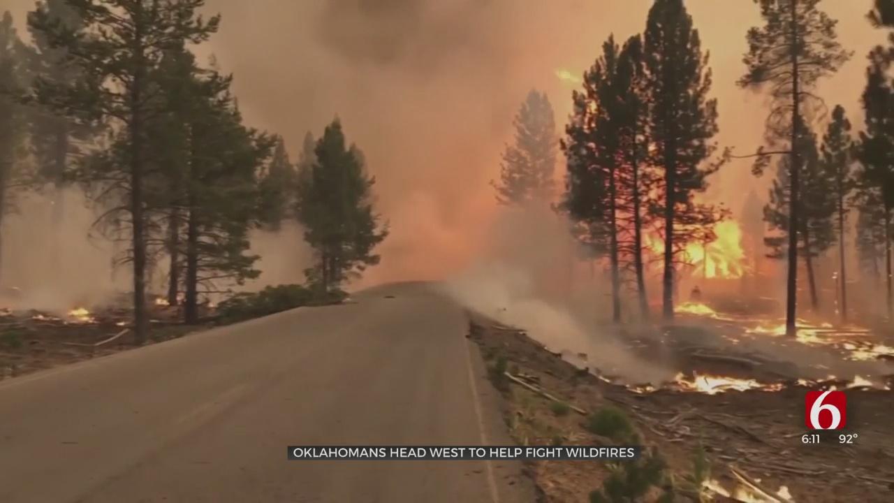 Oklahoma Firefighters Help Battle Major Wildfires In Western US