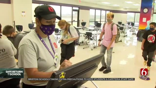 Bristow Schools Take Extra Precautions To Keep Students, Cafeteria Staff Safe