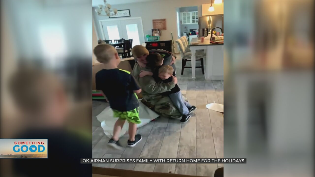 Oklahoma Airman Surprises Son By Returning Home On 9th Birthday