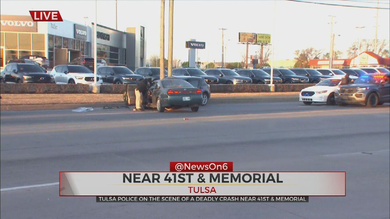Tulsa Police Respond To Deadly Accident Near 41st, Memorial