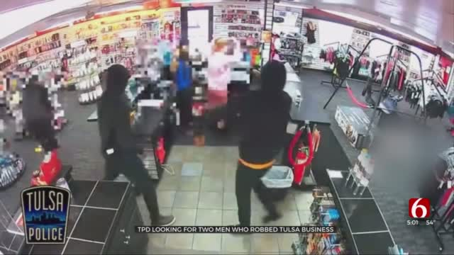 TPD Looking For 2 Men Who Robbed Tulsa Business, Held Women At Gunpoint