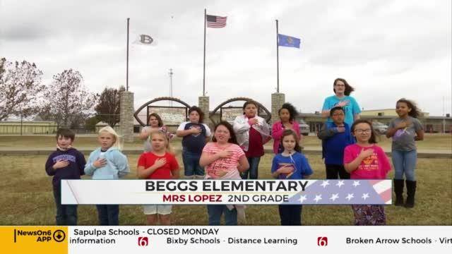 Daily Pledge: Mrs. Lopez's 2nd Grade Class