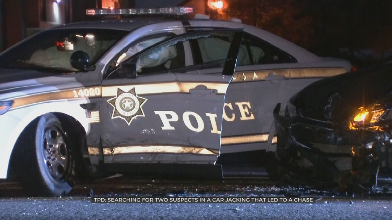 Police Search For Suspect Involved In Stolen Vehicle Chase