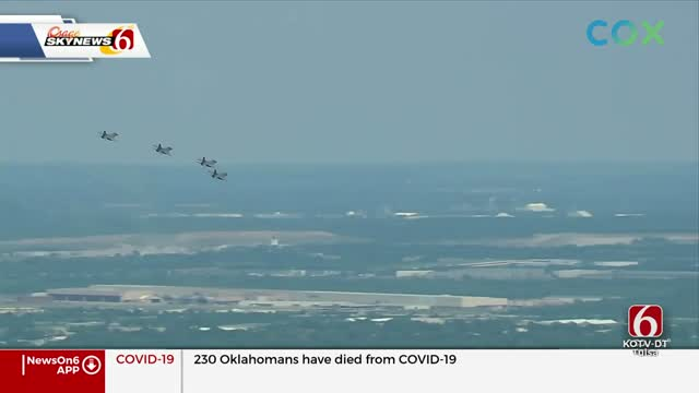 Oklahoma Air National Guard Does Special Flyover Tribute For Healthcare Workers