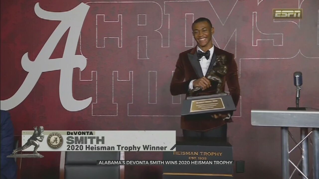 Alabama's DeVonta Smith Wins The Heisman Trophy