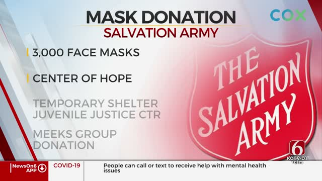 Tulsa Company Donates Face Masks To Salvation Army