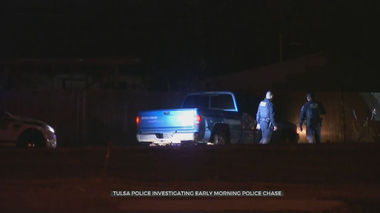 Tulsa Police Search For Man Involved In Overnight Chase