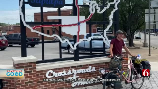 Local Man Aids Teen Cycling Route 66 For Mental Health Awareness