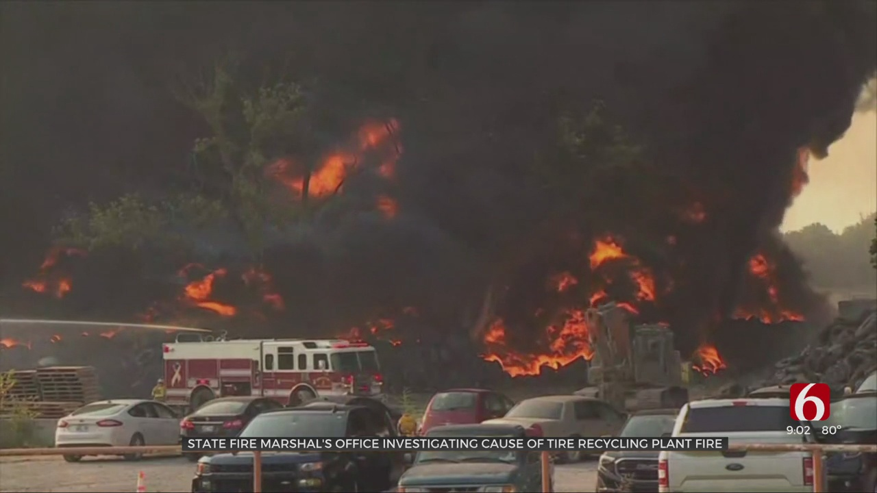 Officials Investigate Cause Of Bristow Tire Recycling Plant Fire; Plant In Ongoing Lawsuit